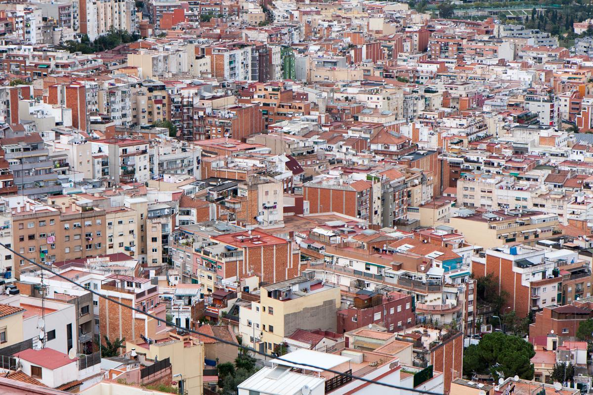 Fotografies del barri de Can Baró al districte de Horta-Guinardó